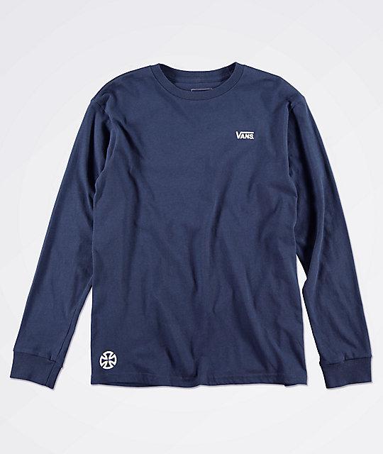 a00500211 Vans x Independent Boys Navy Long Sleeve T-Shirt | Zumiez