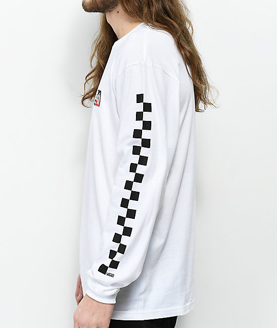 Vans x Independent Check White Long Sleeve T-Shirt
