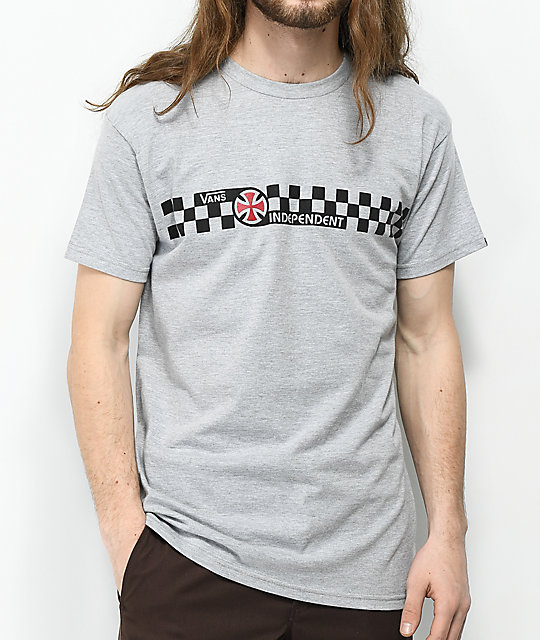 Vans x Independent Check camiseta gris