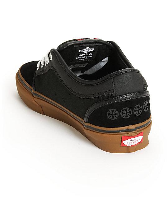 d56c460502 ... Vans x Independent Chukka Low Black Skate Shoes ...