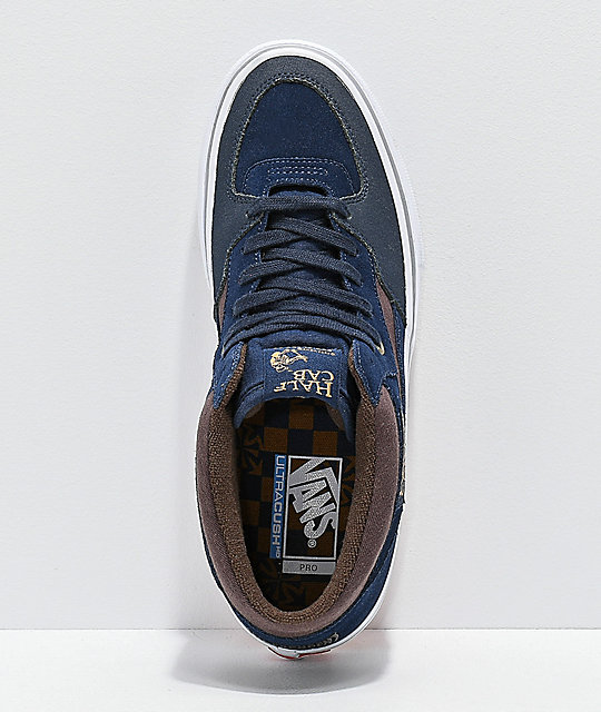 431fe34c3164f8 ... Vans x Independent Half-Cab Pro Dress Blue Skate Shoes ...
