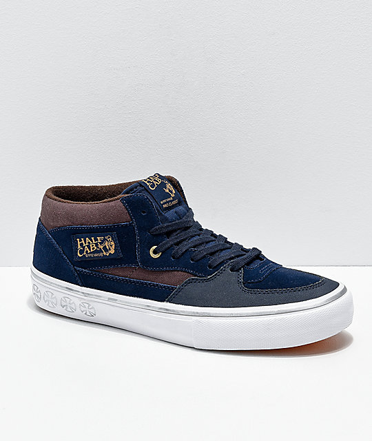 5e402fe50cc95c Vans x Independent Half-Cab Pro Dress Blue Skate Shoes