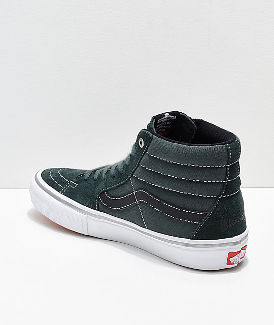 65dd551e1e47 ... Vans x Independent Sk8-Hi Pro Spruce Green Skate Shoes ...