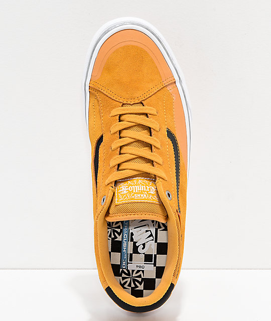 7f9666b361 ... Vans x Independent TNT ADV Prototype Sunflower   White Skate Shoes ...