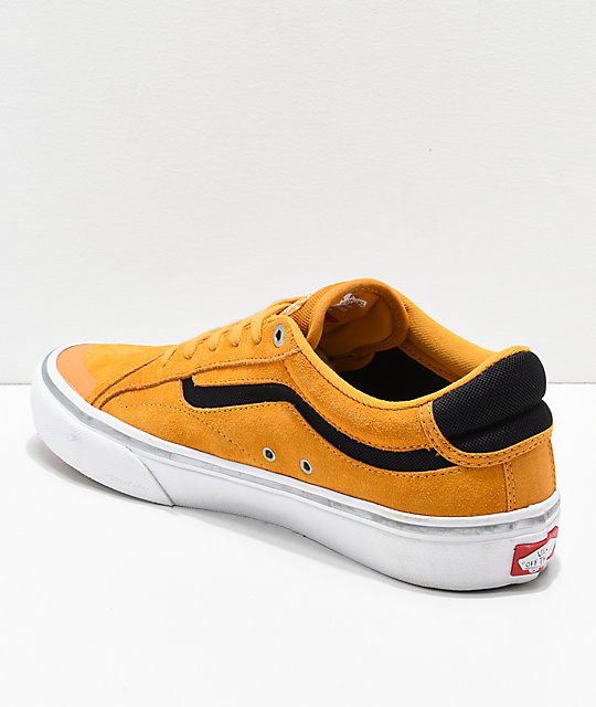Vans x Independent TNT Advanced Prototype Sunflower & White Skate Shoes