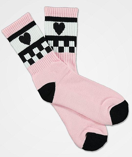 58b7682aed438a Vans x Lazy Oaf Almond Blossom Pink Crew Socks