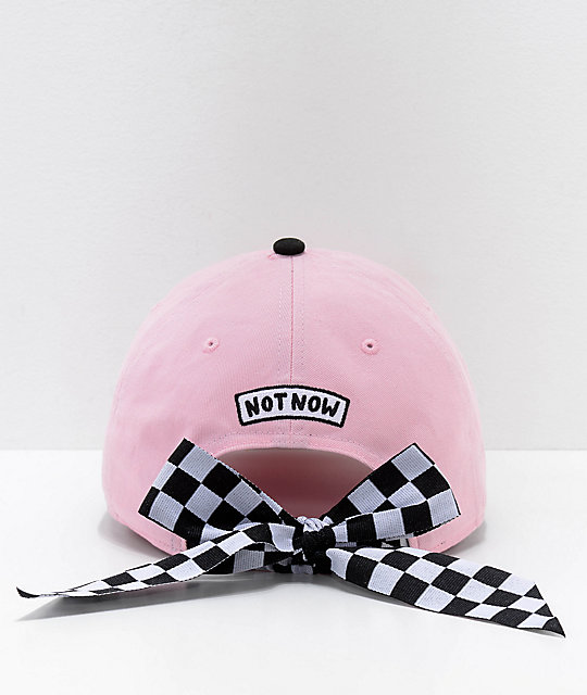 Vans x Lazy Oaf Off The Wall Pink Six Panel Hat