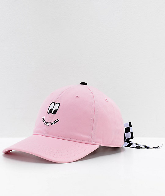 Vans x Lazy Oaf Off The Wall gorra rosa de seis paneles