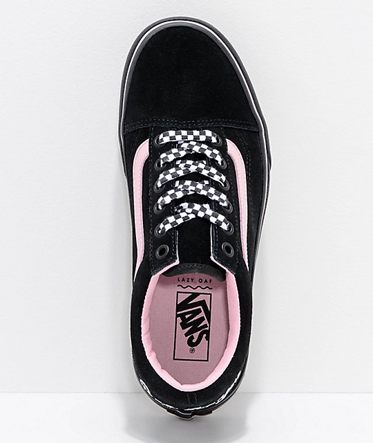 6794b19a1e1a ... Vans x Lazy Oaf Old Skool Platform Black   Pink Shoes ...