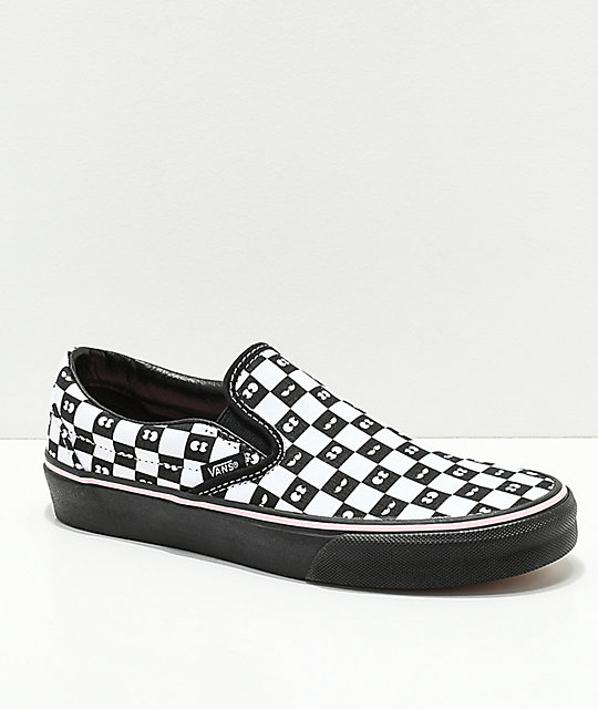 Vans x Lazy Oaf Slip-On Checkerboard Eyes Shoes  485566b6a