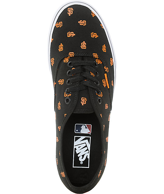 Vans x MLB Authentic Giants Canvas Skate Shoes
