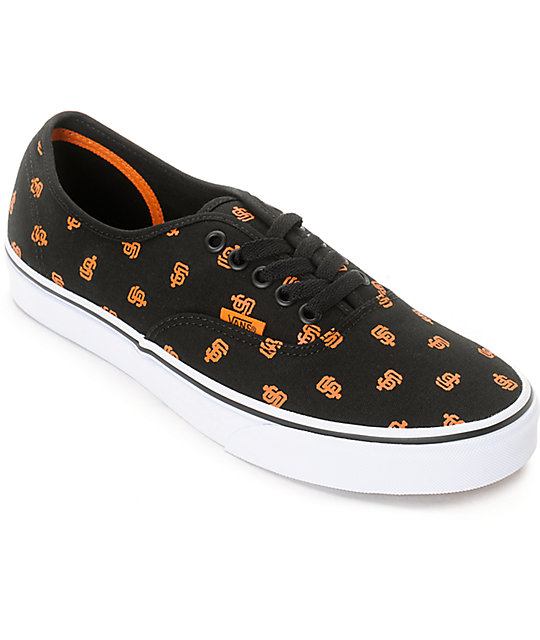 11e0d47161 Vans x MLB Authentic Giants Canvas Skate Shoes