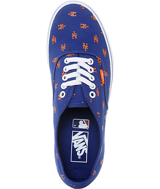 Vans x MLB Authentic Mets Canvas Skate Shoes