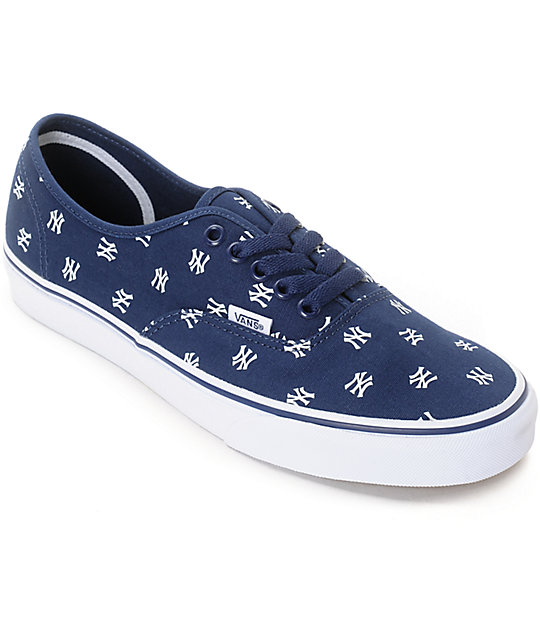 f2a02cff5ef634 Vans x MLB Authentic Yankees Canvas Skate Shoes