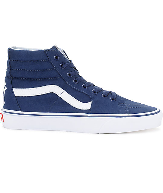 b5813a90ff Vans x MLB Sk8-Hi Yankees Navy Skate Shoes | Zumiez