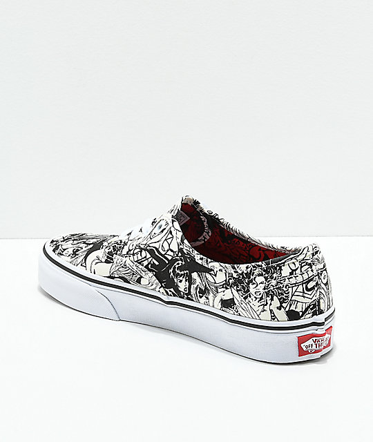 Vans x Marvel Authentic Marvel Women zapatos de skate en negro y blanco