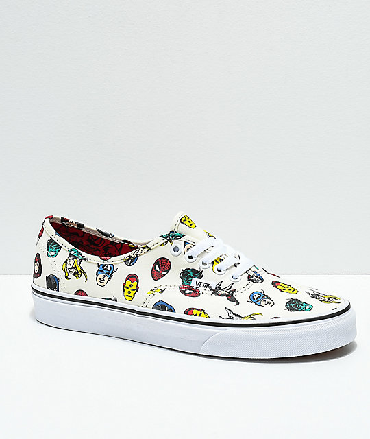 Vans x Marvel Authentic Skate Shoes  e96311f4d