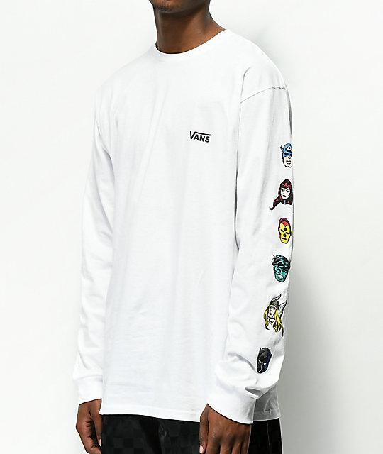Vans MARVEL CHARACTERS - Camiseta manga larga - white PUf6bVH3f2