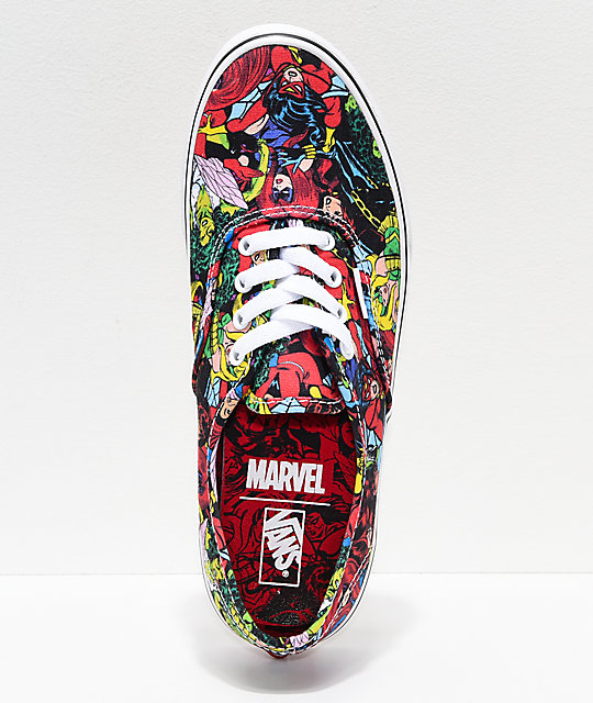 Vans x Marvel Kids Authentic Marvel Women Multi Skate Shoes