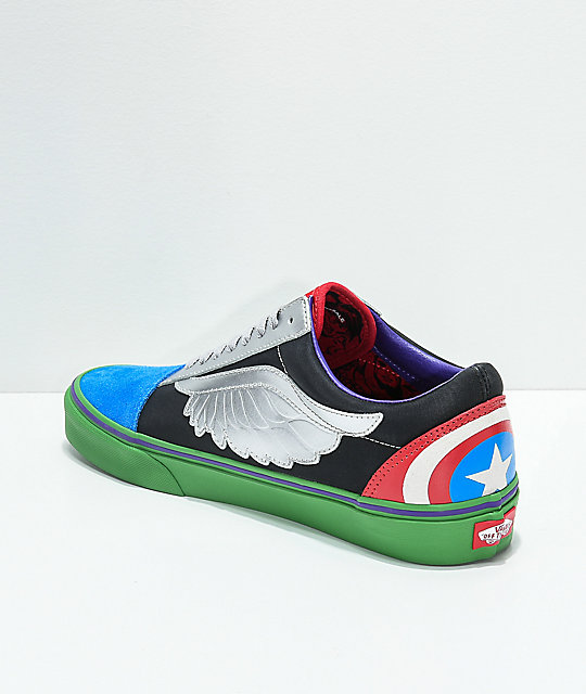 5e5fe39eec ... Vans x Marvel Old Skool Avengers Skate Shoes ...