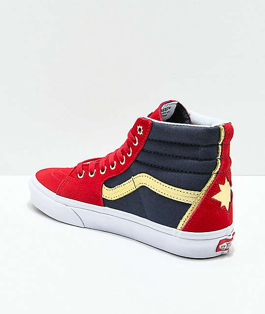 largest supplier Vans X Marvel Sk8-Hi - Captain Marvel cheap sale recommend outlet release dates free shipping buy 3LDB1IEa