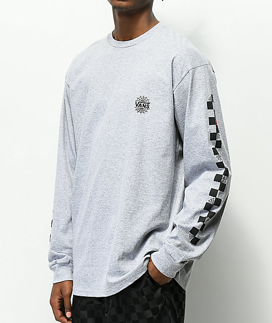 Vans x Marvel Spiderman Grey Long Sleeve T-Shirt