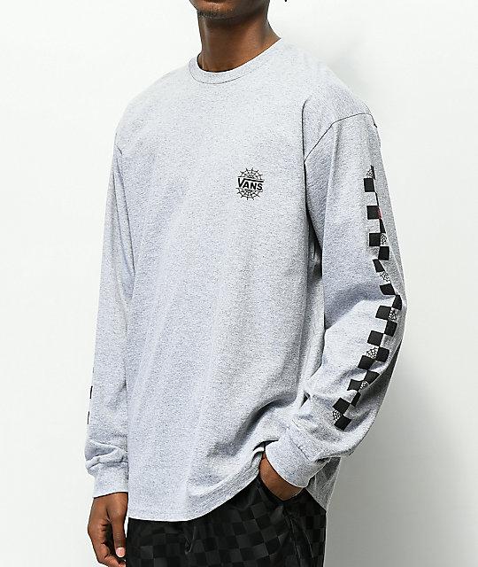 18e00fa59407 Vans x Marvel Spiderman Grey Long Sleeve T-Shirt