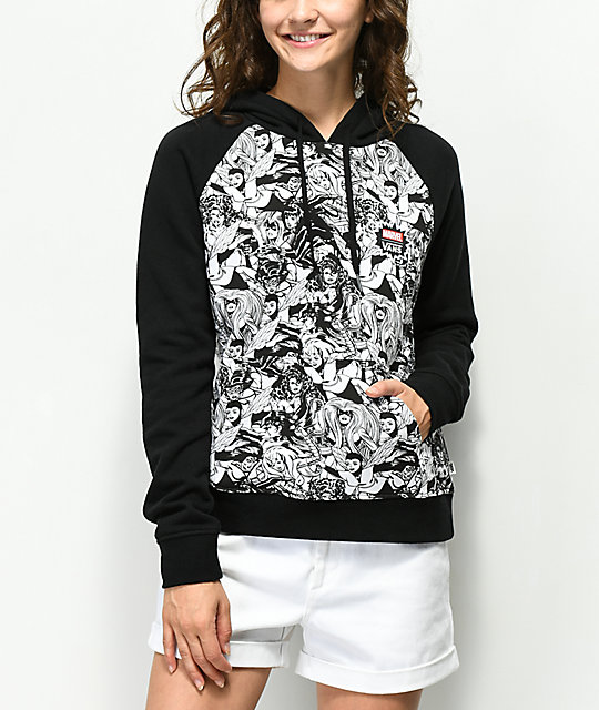Vans x Marvel Women Black & White Hoodie