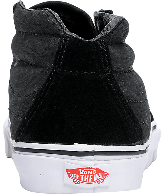 f404f4efbf ... Vans x Max Schaaf Sk8-Mid Black Limited Edition Skate Shoes ...