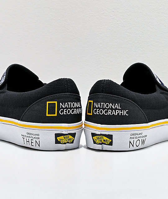 Vans x National Geographic Slip-On Glacier Then & Now Skate Shoes