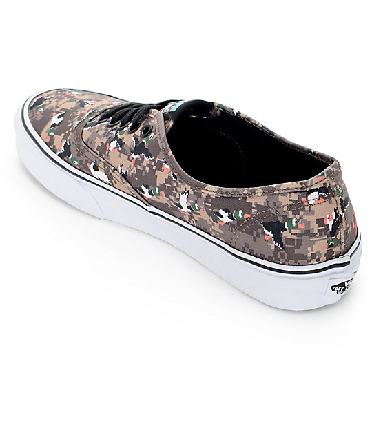 d15d16749cd ... Vans x Nintendo Authentic Duck Hunt Camo Skate Shoes ...