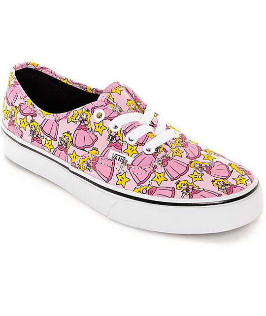 Vans x Nintendo Authentic Princess Peach Shoes ...