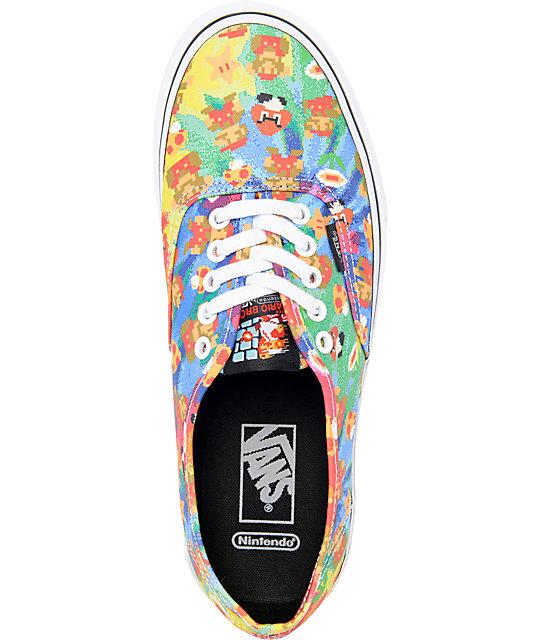 f7644e7e1c ... Vans x Nintendo Authentic Super Mario Brothers Tie Dye Skate Shoes ...