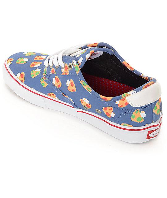 8b758735ce ... Vans x Nintendo Chima Pro Mushrooms Blue Skate Shoes ...
