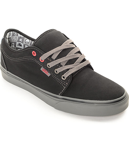 1e0738aeb9 Vans x Nintendo Chukka Low Checkerboard Black   Grey Skate Shoes ...