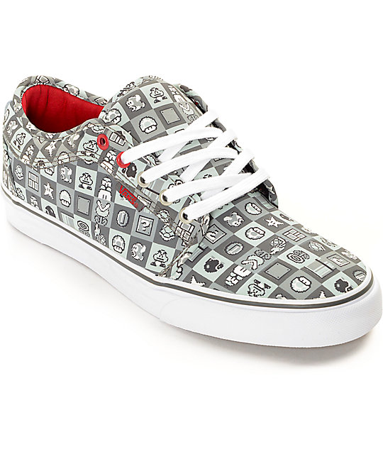 f1e6d6ab48 Vans x Nintendo Chukka Low Checkerboard Grey   White Skate Shoes ...