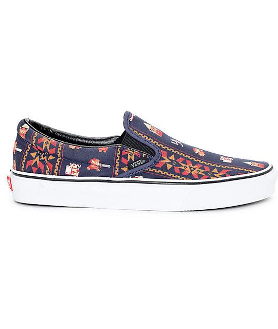 a9e3c4d370 ... Vans x Nintendo Classic Zelda Parisian Night Slip On Shoes ...
