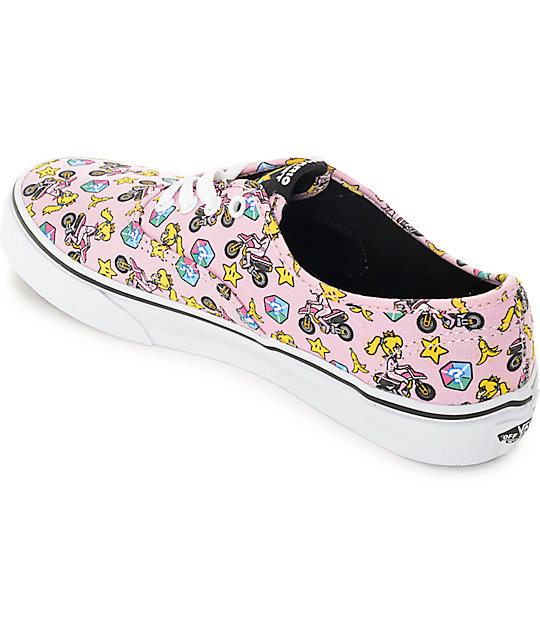 ad8b246ad8 ... Vans x Nintendo Kids Authentic Princess Peach Shoes ...
