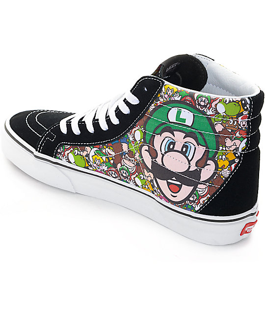 fd464e5d6f ... Vans x Nintendo Sk8-Hi Reissue Mario   Luigi Skate Shoes ...