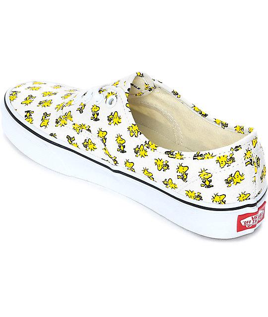 85fdf9deb3ab2b ... Vans x Peanuts Authentic Woodstock Skate Shoes ...