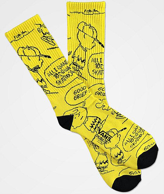bcbdab2be0 vans-x-peanuts-charlie-brown-yellow-crew-socks by