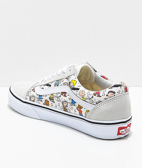 Vans x Peanuts Old Skool Multi Colored & White Skate Shoes
