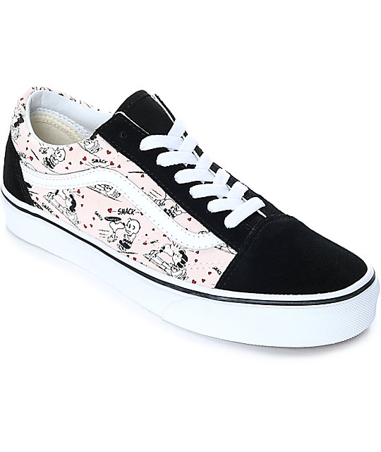 Buy Vans x PEANUTS Black Cartoon Shoes Lav toppGRATIS FRAKT  Zumiez
