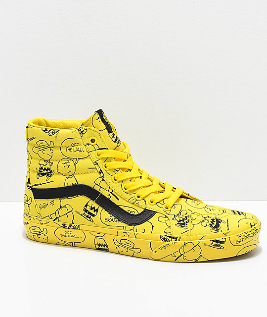 chaussures vans x peanuts sk8-hi reissue