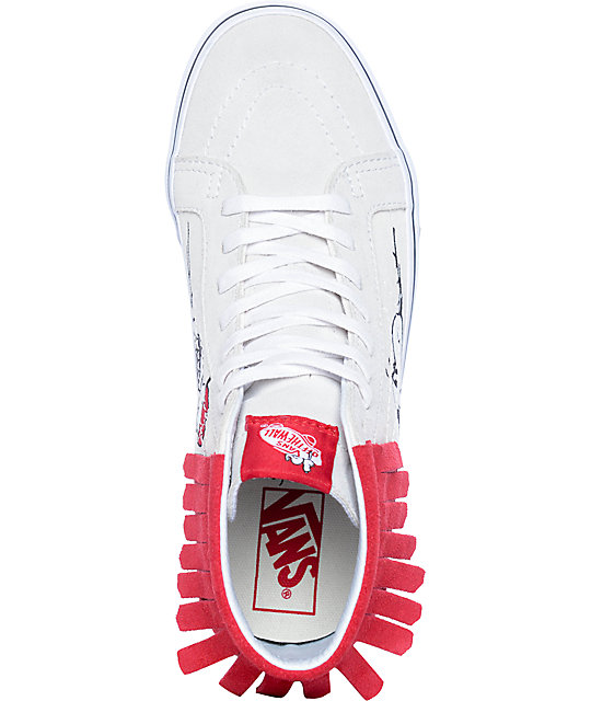 69f832917fdc35 ... Vans x Peanuts Sk8-Hi Doghouse Moc Skate Shoes ...