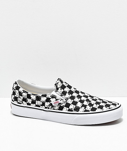 vans slip on snoopy