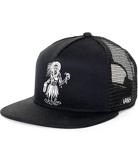 Vans x Sketchy Tank Black Trucker Hat  40addb4c6d7