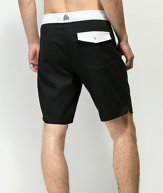 Vans x Sketchy Tank Deep Sea Black & White Board Shorts