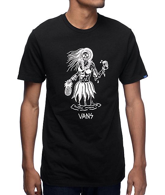 Vans x Sketchy Tank Luau Lady Black T-Shirt  26bc4738efd
