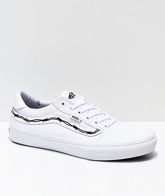 d44eef1c Vans x Sketchy Tank Style 112 Pro Reflective White & Black Skate Shoes